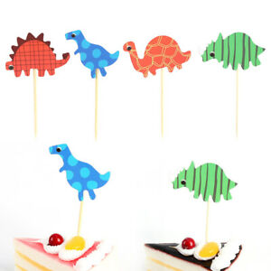 72pcs Cute Cartoon Lovely Dinosaur Cake Toppers Food Toppers for Party $6.83
