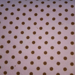 Wilmington Prints Pink with Brown Dots Flannel Fabric Sold by the Yard Free Ship