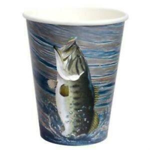 Gone Fishing Paper Cups Heavy Weight 8 Count 12 oz.