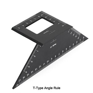 Multifunctional Square 45 90 Degree Gauge Angle Ruler Measuring Tool Charm E $7.89