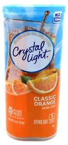 4 10 Quart Canisters Crystal Light Classic Orange Drink Mix $24.99