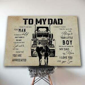 Son To Dad Truck To My Dad You Are Appreciated No Frame $18.99