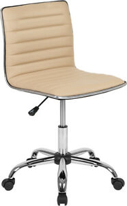 Flash Furniture Armless Office Chair With Tan Finish FLHDS 512B TAN GG $122.88