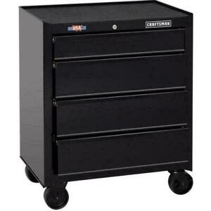 4 Drawer Steel Rolling Tool Cabinet 1000 Series 26.5 in W x 32.5 in H