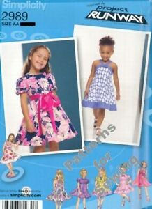 Pattern Simplicity Sewing Girls Project Runway Inspired Dress Sz ½ 3 NEW $3.60