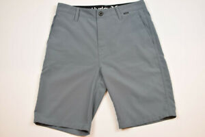 Mens Shorts Hurley Size 28 Gray Polyester Excellent Condition $15.00
