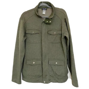 Patagonia Men's Casual Olive Green Jacket Sz L Large Outdoor Hiking $54.95
