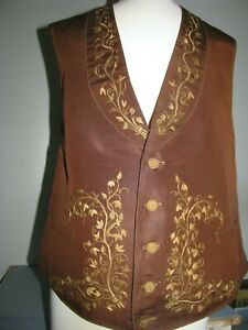 MENS ANTIQUE VEST WAISTCOAT 1830'S STUNNING FLORAL EMBROIDERY EXCELLENT