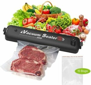 Automatic Vacuum Food Sealer For Dry amp; Moist Food Saver with 15 Pcs Saver Bags $34.99