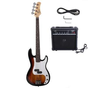 Basswood Bass electric guitar set four strings with sound keys
