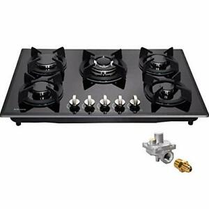 30quot; Gas Cooktop Dual Fuel 5 Sealed Burners Gas Hob Tempered Glass DM517 SA01 $457.88