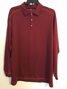 Nike Fit Dri Golf Polo XXL Long Sleeve Red $14.99