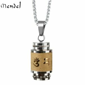 Tibetan Buddhist Cremation Memorial Ash Urn Pendant Necklace For Ashes Holder