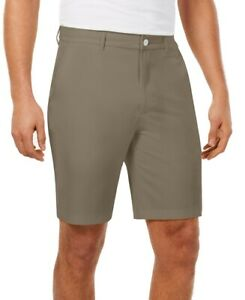 Greg Norman Mens Shorts Beige Size 32 Fuego Stretch Flat Front Chinos $55 #146 $11.99
