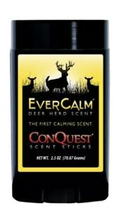 2X Conquest Ever Calm Deer Herd Scent Hunting Stink Stick Buck 5 Ozs Wax Formula