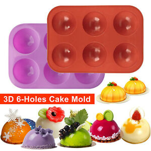 2Pack 6 Cups Silicone Cake Mold Hot Chocolate Bombs Mould 2quot; Half Ball Sphere US $8.96