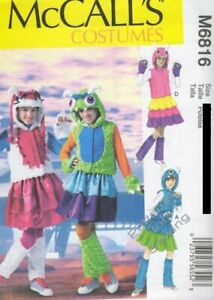 Pattern McCall#x27;s Sewing Girls#x27; Costumes Monster SIZE 10½ 16½ $4.50