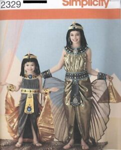 Pattern Simplicity Sewing Girls#x27; Costume Egyptian SIZE 3 6 $4.50