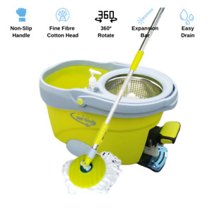 Upgraded Microfiber Spinning 360 Rotating Mop And Bucket Head Floor Cleaning $33.00