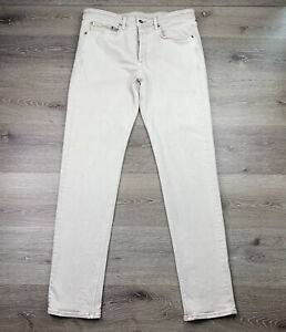 Rag amp; Bone New York Mens Fit 2 Slim Button Fly Jeans in Stone Waist:34x32 $49.99