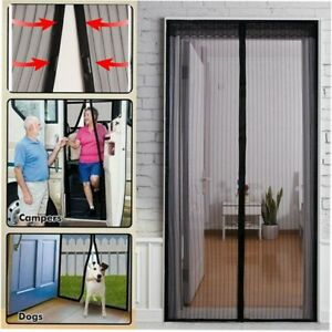 Hands Free Magnetic Screen Door Heavy Duty Mesh Net Mosquito Fly Insect Curtain
