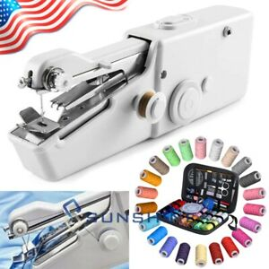 Portable Handheld Sewing Machine Singer Stitch Sew Quick with 126Pcs Sewing Kit $13.65