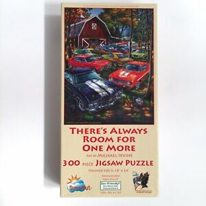 Classic Cars 300 Piece Puzzle Michael Irvine Room for One More 18x24 $12.99
