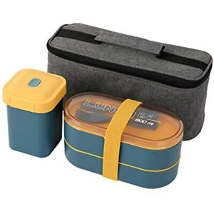 PENGKE Bento Box Adult Lunch Box Japanese Boxes For Adults With Insulation Bag