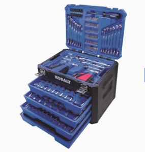 286 Piece Mechanics Tool Set Standard SAE and Metric Combination Polished Chrome $197.95