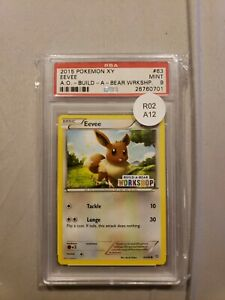 Eevee Build A Bear Workshop Promo Set Pokemon Cards PSA 9 Mint $89.99