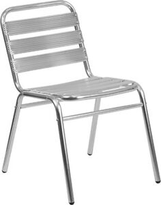 Flash Furniture Armless Restaurant Stack Chair with Triple Slat Back TLH 015 GG $58.36