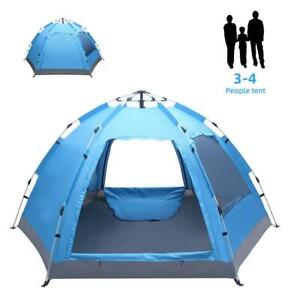 3 4 Person Waterproof Camping Tent Automatic Pop Up Quick Shelter Outdoor Hiking