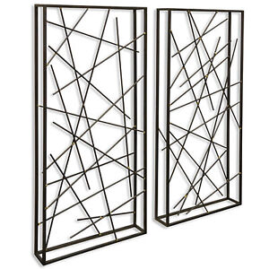 GwG Outlet Set of 2 Contemporary Metal Wall Sculptures $140.95
