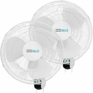 16 Wall Mount Fan Oscillating 3 Speed Quite For Industrial Home Grow room