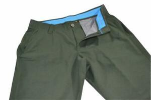16504 a Under Armour Golf Pants Size 34 x 32 Green Polyester Mens Adult $25.79