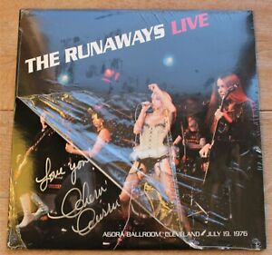 The Runaways LP Live at the Agora Ballroom 1976 Signed by Singer Cherie Currie $70.00