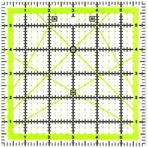 UOOU Quilting Ruler 6amp;quotX6amp;quot 1 Pack Square Rulers Fabric Cutting Acrylic $15.19
