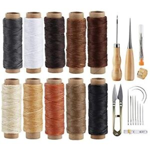 Ilauke Leather Sewing Kit 31 Pcs Working Tools Upholstery Repair With Waxed $23.08