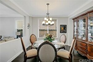 glass top dining room and set china cabinet