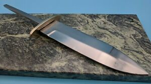 Fixed Blade Knife Making Blank with Hidden Tang and Guard 6 3 4 Carbon Steel $29.99