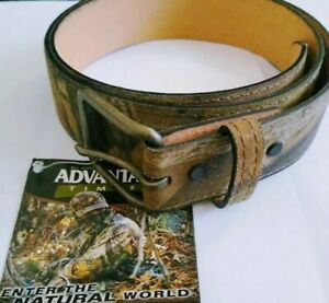 Camouflage Camo Made in Texas USA Leather Hunting Belt Size 44 110