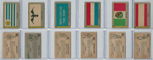 1950 Topps Parade Flags Lot Uruguay Viking Perry Netherlands Mexico