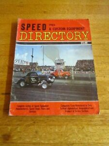 1965 SPEED amp; CUSTOM EQUIPMENT DIRECTORY BOOK DRAG RACING HOT RODS FORD CHEVROLET