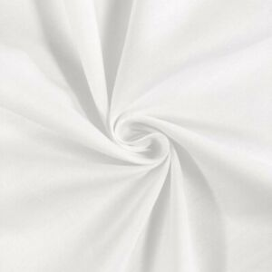 100% Cotton Fabric By The Yard White 45quot; Wide For Sewing Quilting And Masks $8.99