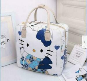 Women Girl#x27;s Hello Kitty Kimono Handbag Travel Luggage Bag Large Capacity new
