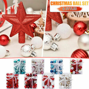 30Pack Set Christmas Ball Party Xmas Tree Decorations Hanging Ornament Decor