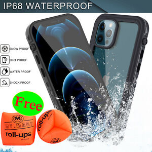 For iPhone 12 12 Pro Max Waterproof Shockproof Defender Case w Screen Protector $15.96