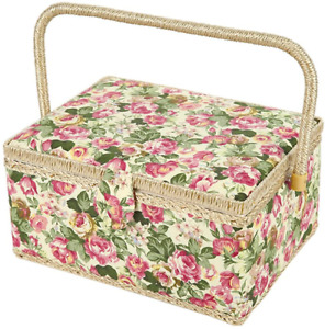 Wooden Large Sewing Baskets with 99Pcs Sewing Kit Accessories Sewing Organizer $60.34