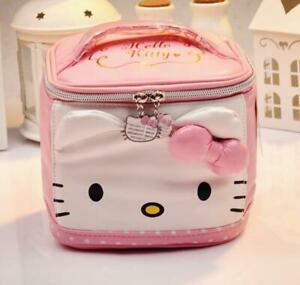 Hello kitty head zip makeup bag handbag storage zip cosmetic bag
