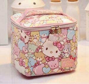 Hello kitty bear zip makeup bag handbag storage zip cosmetic bag